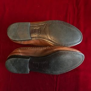 Martin Drake Shoes - Loafer Size 8.5 M Brown Leather Tassel Hand Stitch